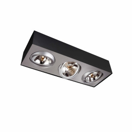 Lirio ceiling light Bloq, 3 spotlights, white